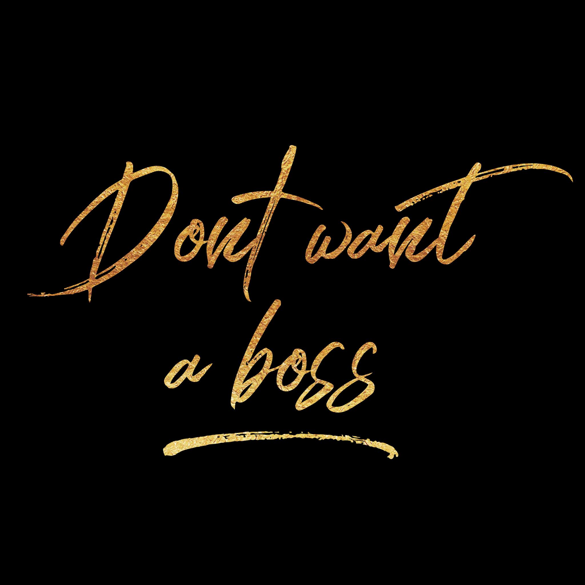 dont want a boss logo