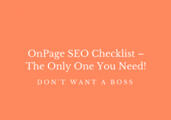 OnPage SEO Checklist – The Only One You Need