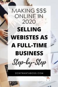 Selling sites online & Make money flipping websites