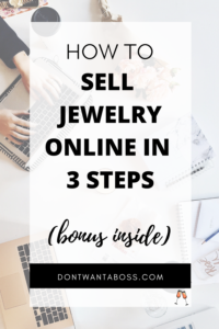 how to sell jewelry online - in 3 steps plus a bonus