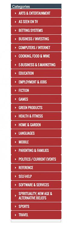clickbank marketplace categories