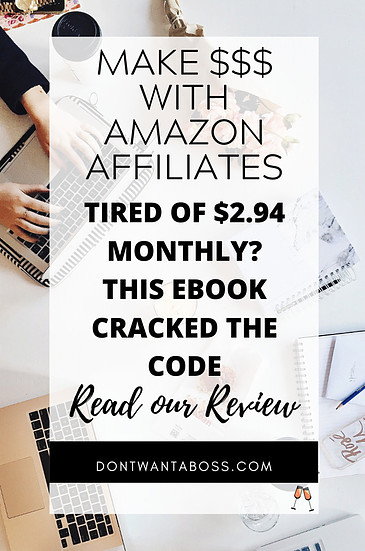 amazon affiliate training - if you are tired of making only 2.94$ monthly this ebook cracked the code to making money with the amazon affiliate program