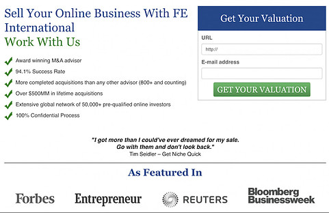 selling sites online using FE International