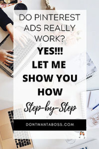 do pinterest ads work yes let me show you how step by step