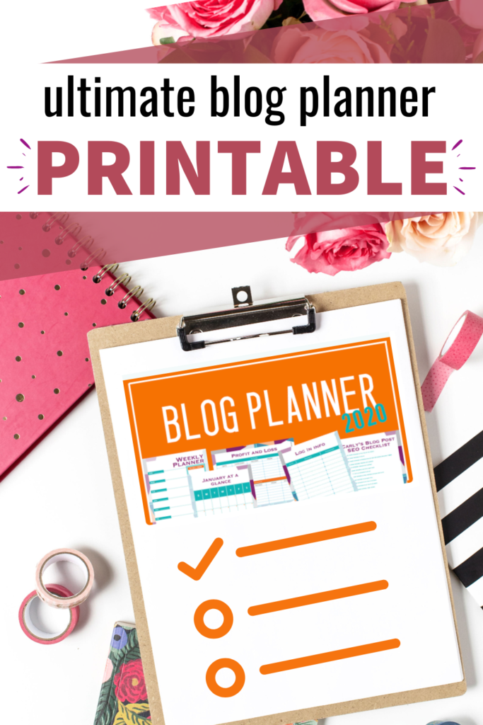 printable blog planner - blog planner printable weekly - blog planner printable monthly - blog planner printable 2020 - blogging tips and tricks